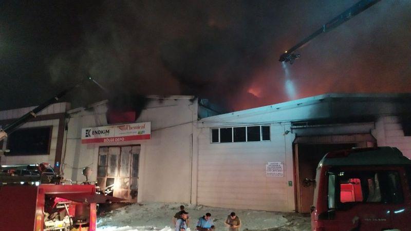 Gaziantep'te fabrika yangını devam ediyor