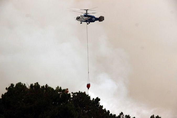 39 helikopter 6 uçakla dev müdahale