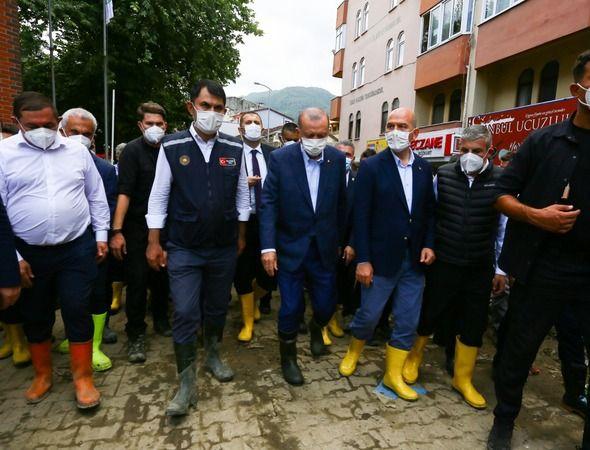 Erdoğan, Kastamonu'nun Bozkurt ilçesinde