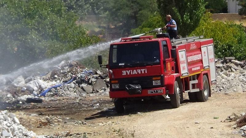 Gaziantep 1.Organizede çıkan yangına anında müdahale