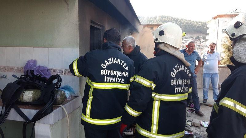 Gaziantep'in ilçesinde korkutan yangın