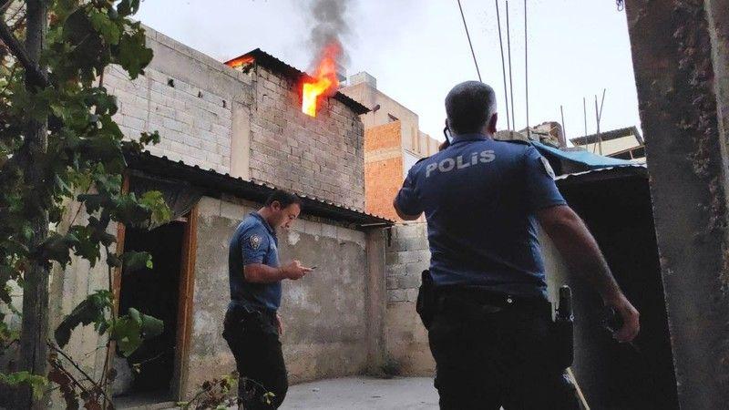 Mangal keyfi yangına neden oldu