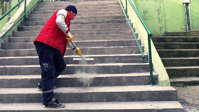 Osmangazi'de merdivenler yenileniyor