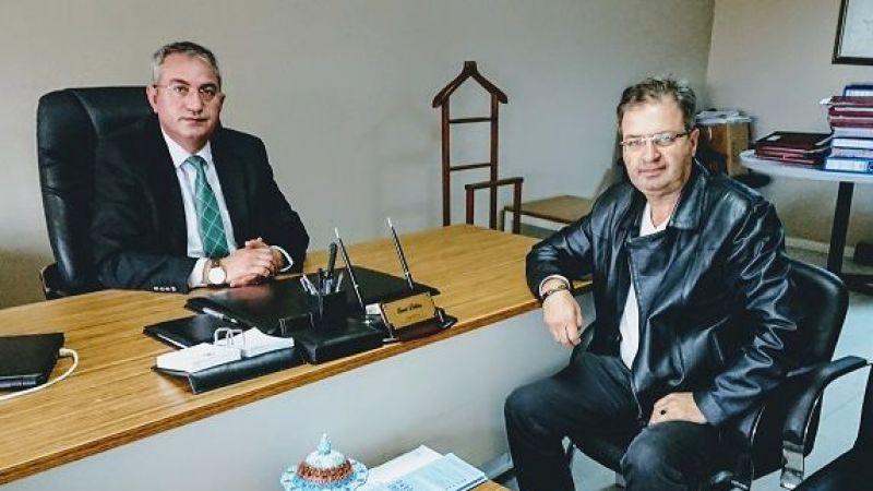 Tuzla Vergi Dairesi Müdürü Cemal Delibaş'ı ziyaret ettik.