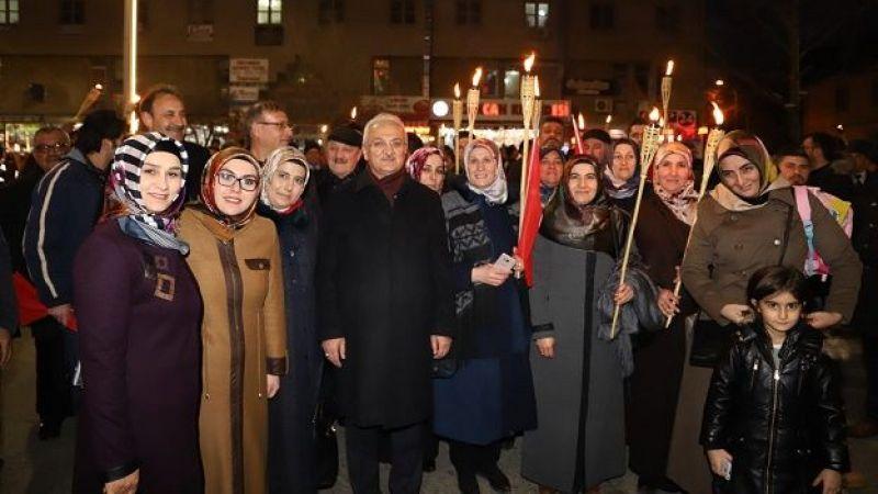 Erzincan'da kurtuluş yürüyüşü