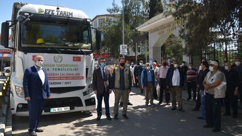 Aydınlı Nişancı Mehmet Paşa Cami Cemaatinden Suriye'ye Yardım Eli
