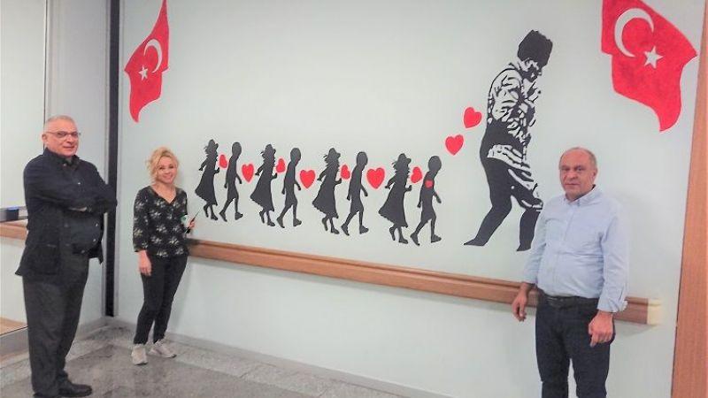 Küçük Yürekler Gülsün Diye Hastane Koridorları Renklendi!