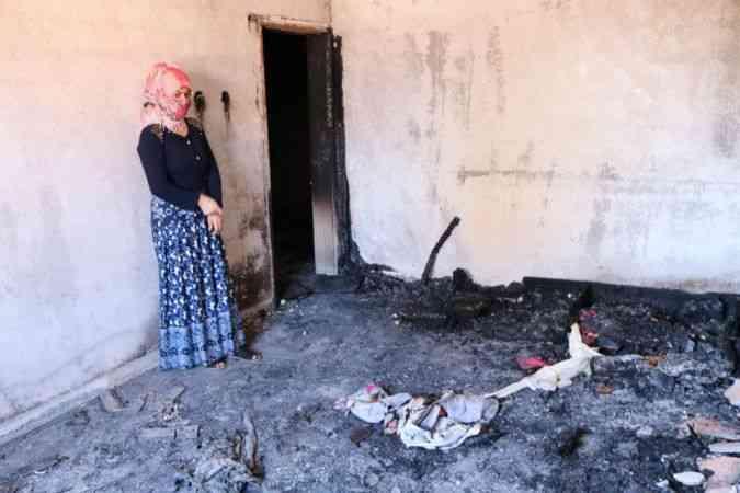 Çocukları uyurken evini ateşe verdi