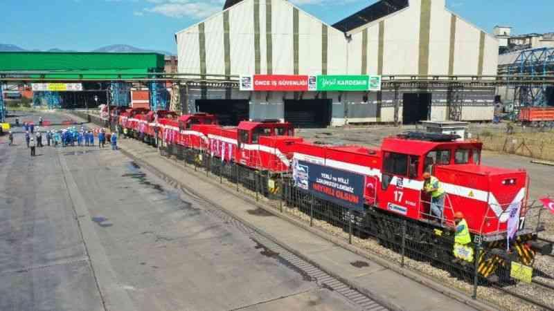 Yerli ve milli lokomotifler KARDEMİR'de çalışmaya başladı