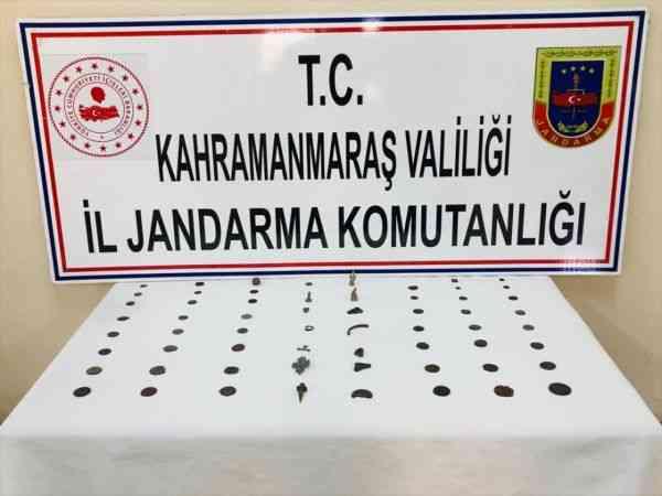 Kahramanmaraş'ta tarihi eser satmaya çalışan kişi gözaltına alındı