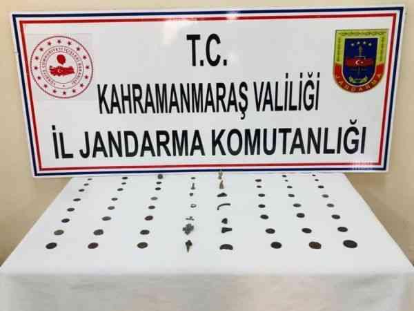 Kahramanmaraş'ta tarihi eser kaçakçılığına 1 gözaltı