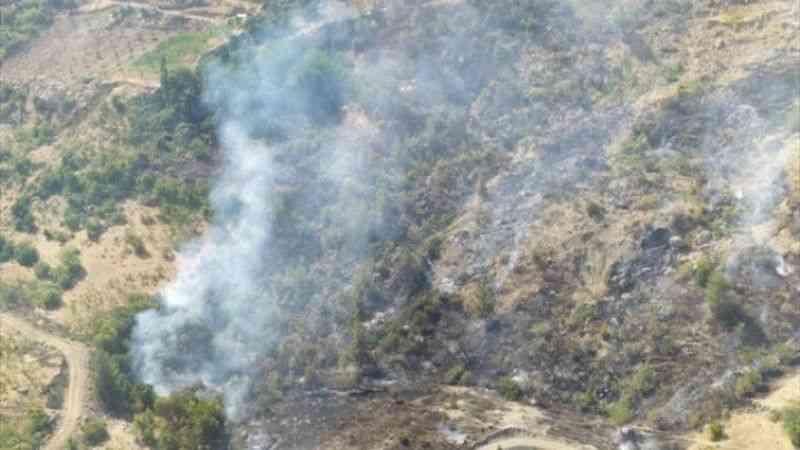 Kahramanmaraş'ta örtü yangını
