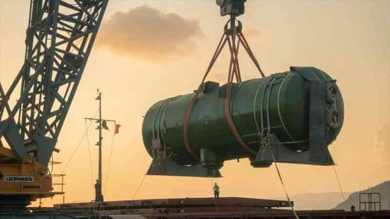 Akkuyu NGS için üretilen 4 buhar jeneratörü Mersin'e ulaştı