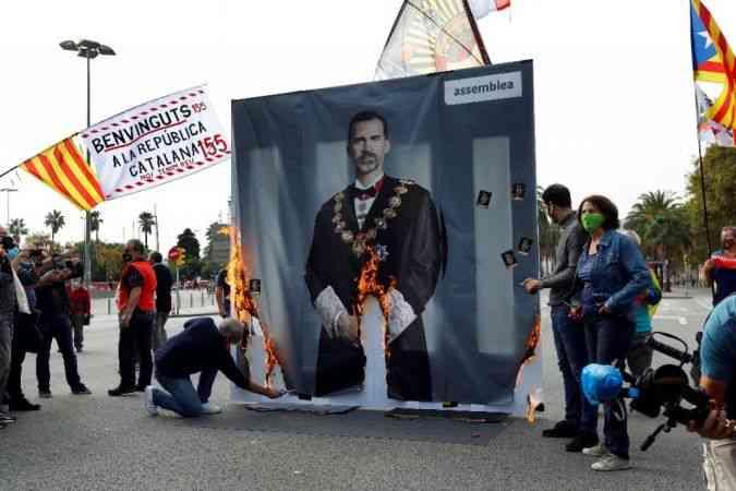 İspanya Kralı 6. Felipe, Barselona'da protestoyla karşılandı