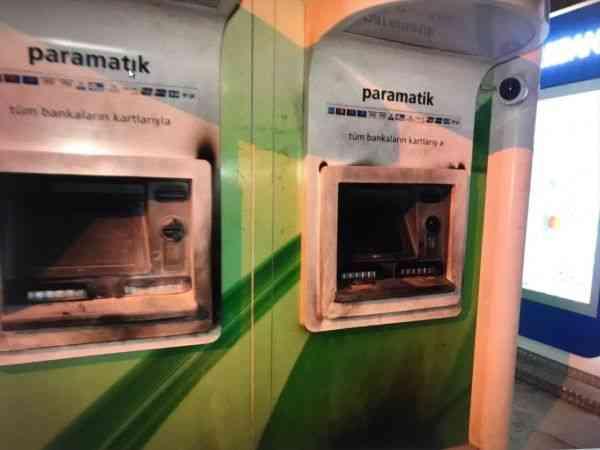 Kahramanmaraş'ta ATM'yi kundakladığı iddia edilen şüpheli yakalandı