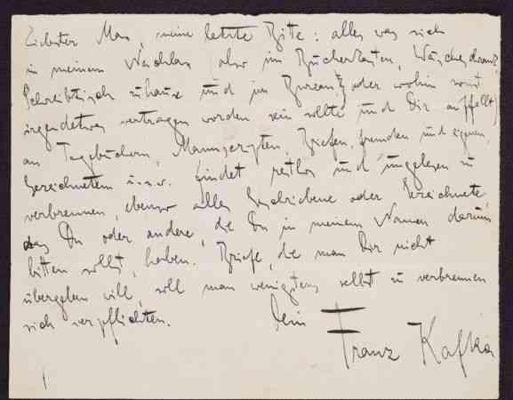 Kafka'nın el yazmalarının koleksiyonu, internette yayınlandı