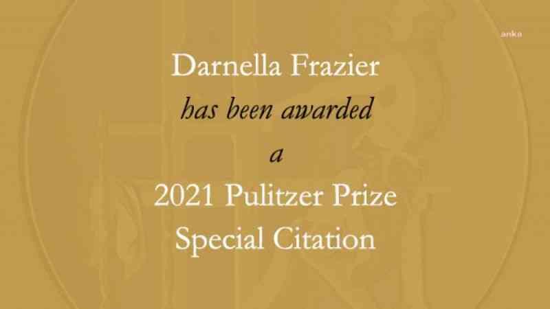 George Floyd cinayetini görüntüleyen Darnella Frazier'e Pulitzer ödülü verildi
