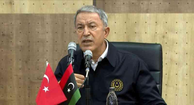 """Bakan Akar'dan 'Libya' açıklaması: """"Bizim alnımız açık, başımız dik"""""""