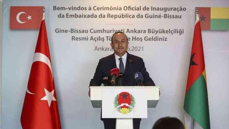 Dışişleri Bakanı Çavuşoğlu, Gine Bissau'nun Ankara Büyükelçiliğinin açılış töreninde konuştu