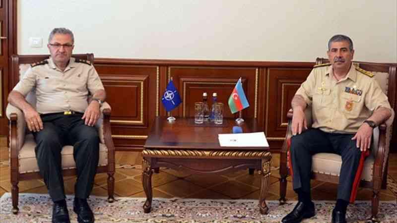 NATO Kara Komutanlığı Kurmay Başkanı Tokel, Azerbaycan Savunma Bakanı Orgeneral Hasanov'la görüştü