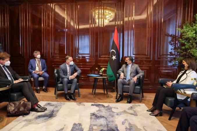 Libya Başbakanı Dibeybe, İkinci Berlin Konferansı öncesi Almanya Dışişleri Bakanı ile bir araya geldi
