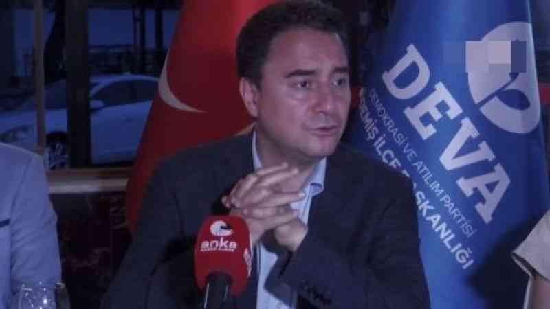 Ali Babacan: ''Partilerin kapatılması ceza olmaktan çıkarılmalı''