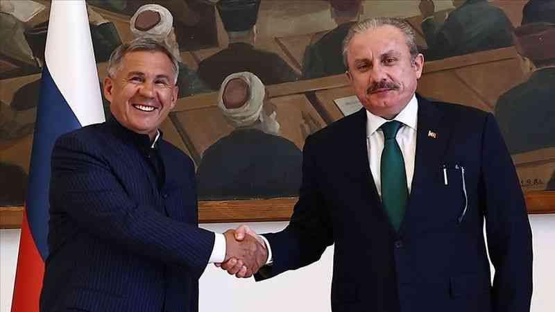 TBMM Başkanı Şentop, Tataristan Cumhurbaşkanı Minnihanov ile bir araya geldi