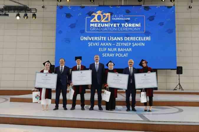 Bakanlar Gül ve Elvan, Hasan Kalyoncu Üniversitesi Mezuniyet Töreni'ne katıldı