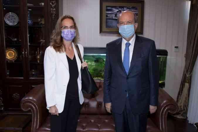 KKTC Cumhurbaşkanı Tatar, Fransız Büyükelçi Grenet-Catalano'yu kabul etti