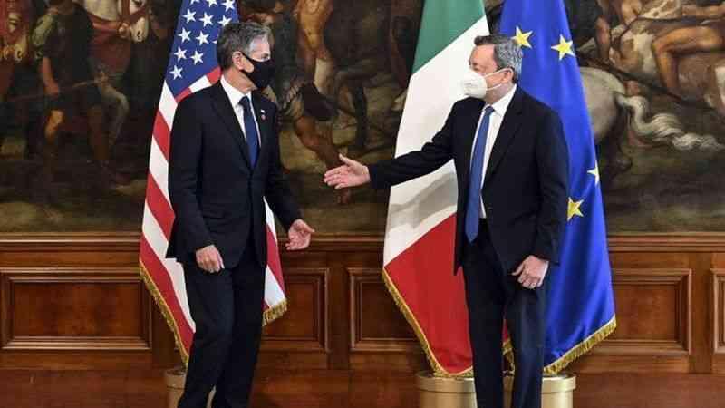 İtalya Başbakanı Draghi, ABD Dışişleri Bakanı Blinken ile görüştü