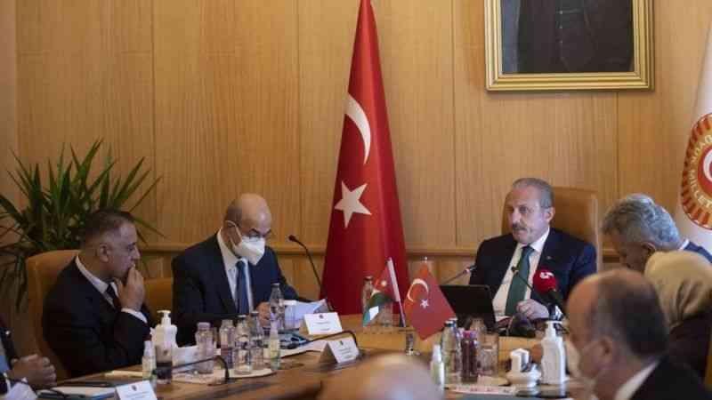 TBMM Başkanı Şentop, Ürdün Temsilciler Meclisi Filistin Komitesi heyetini kabul etti
