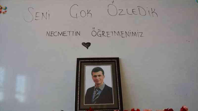 """Şehit Necmettin Yılmaz'ın öğrencileri: """"Seni çok özledik Necmettin öğretmenimiz"""""""