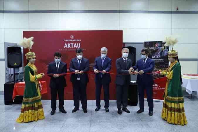 THY'nin 255.destinasyonu Kazakistan'ın Hazar Denizi kıyısındaki Aktau şehri oldu