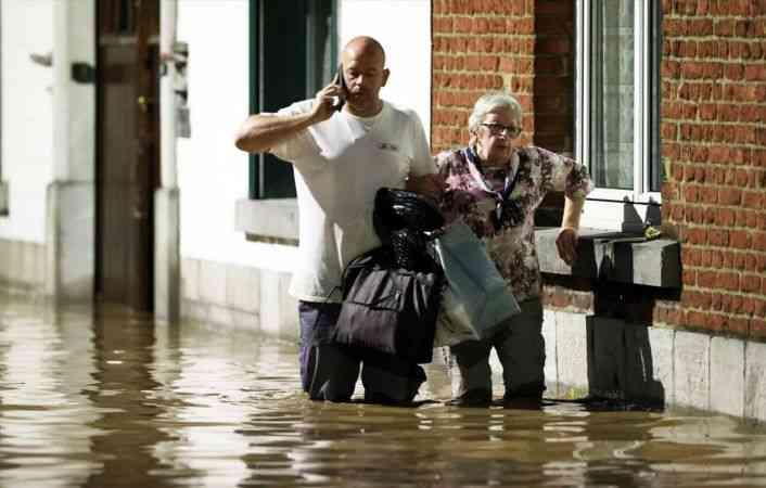 Belçika'da aşırı yağışlar yeniden sele neden oldu