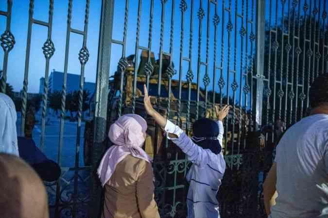 Tunus'ta Nahda Hareketi destekçileri, Cumhurbaşkanı Said'in aldığı kararları protesto etti