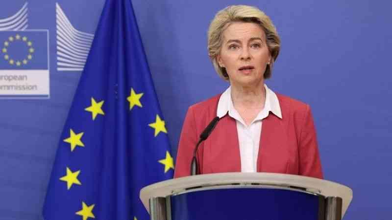 AB Komisyonu Başkanı Ursula von der Leyen basın toplantısı