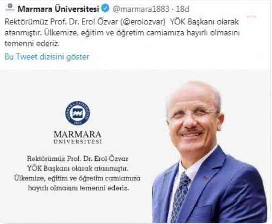 Marmara Üniversitesi yeni yök başkanı'nı 'açıkladı', paylaşım kısa süre sonra silindi