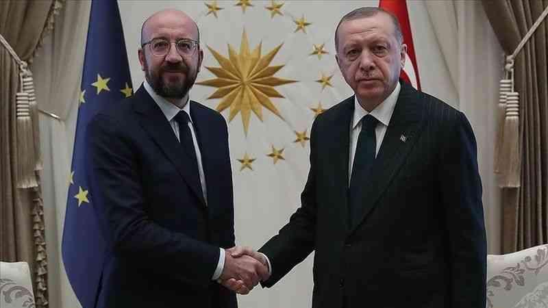 Cumhurbaşkanı Erdoğan, AB Konseyi Başkanı Charles Michel ile telefonda görüştü