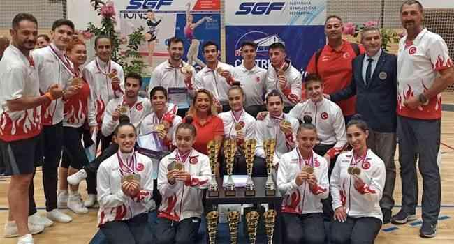 Milli cimnastikçiler, Slovakya'da 13 madalya kazandı