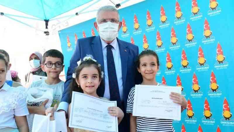 Onikişubat Belediyesi'nden Öğrencilere Hediye Kuran-ı Kerim