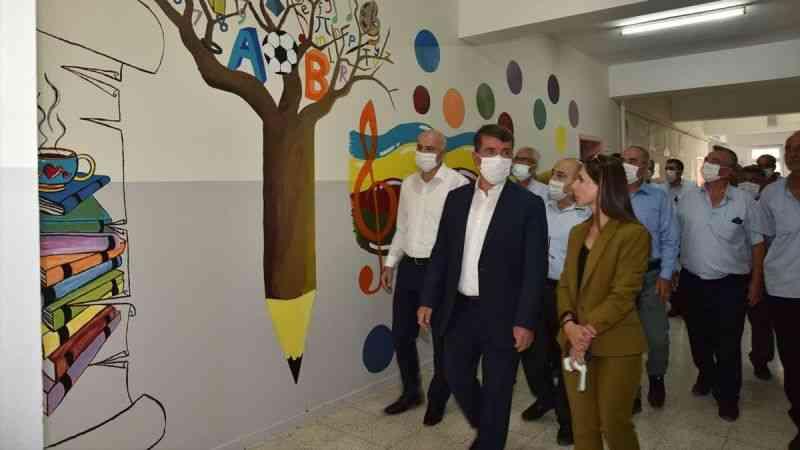 Türkoğlu Belediyesi Ceceli Okulunda bakım ve onarım gerçekleştirdi