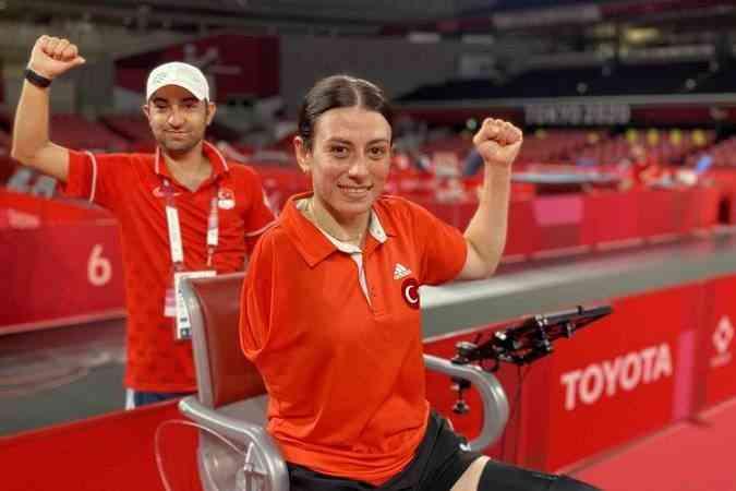 Masa tenisi tek kadınlarda Kübra Korkut, bronz madalya elde etti