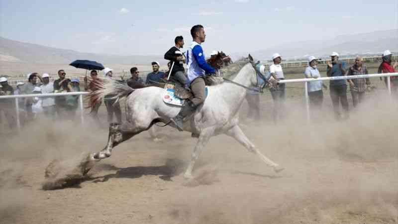 """Erzurum'da """"Geleneksel Rahvan At Yarışları"""" düzenlendi"""
