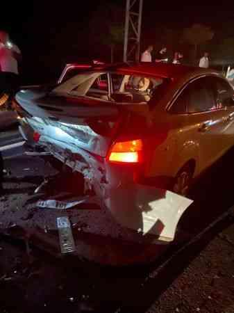 Mardin'de zincirleme trafik kazasında 13 kişi yaralandı