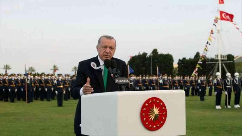 Cumhurbaşkanı Erdoğan, MSÜ Deniz ve Hava Harp Okulu Diploma Alma ve Sancak Devir Teslim Töreni'ne katıldı