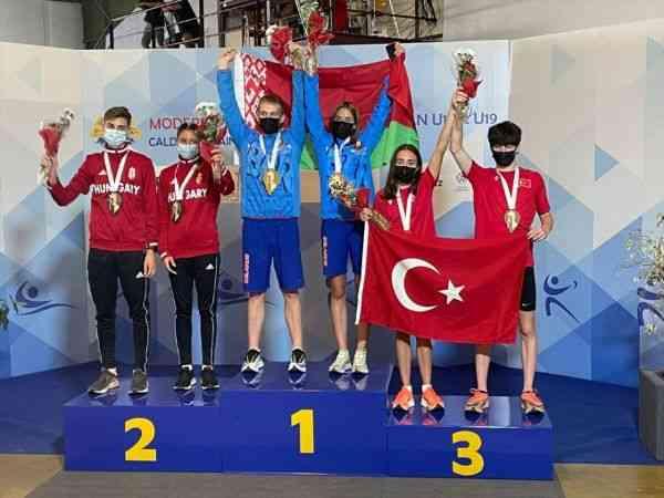 Genç milli pentatletlerden Portekiz'de bronz madalya