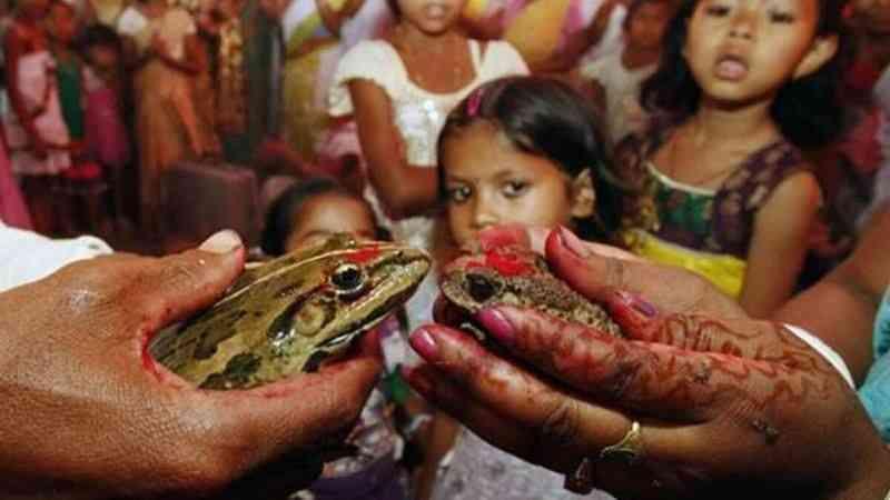 Hindistan'da yağmur yağması için kız çocukları çıplak dolaştırıldı