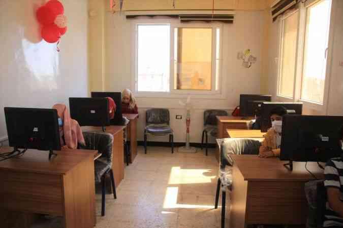 Suriye'nin Bab ilçesinde gençlik merkezi açıldı