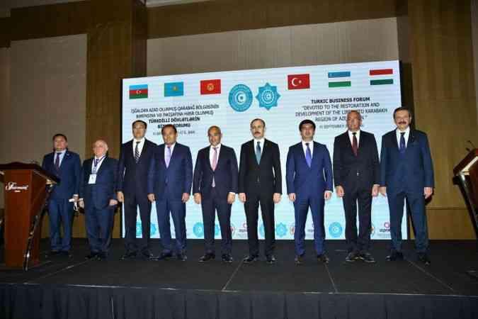 Türk dünyası iş adamları Karabağ'ın imarı için Bakü'de buluştu