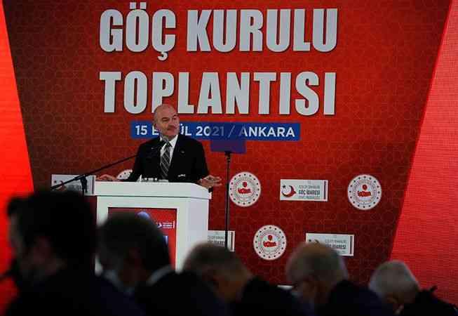 """İçişleri Bakanı Soylu, """"Göç Kurulu Toplantısı""""nda konuştu"""